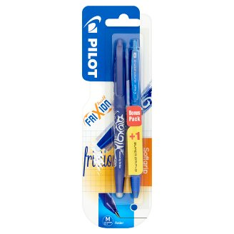 Pilot FriXion Ball Blue Rollerball Pen with Erasable Ink 0,7 mm + Supergrip G Blue Rollerball Pen