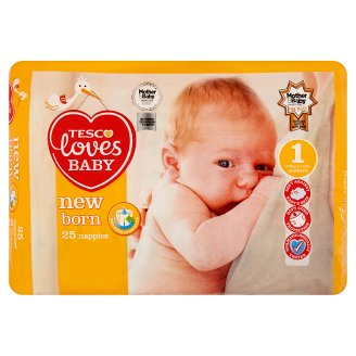 Tesco Loves Baby New Born 1 Newborn Diapers for Newborns 2-5 kg 25 pcs