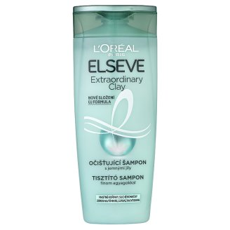 L'Oréal Paris Elseve Extraordinary Clay Cleaning Shampoo for Quickly Re-Greasing Hair 250 ml