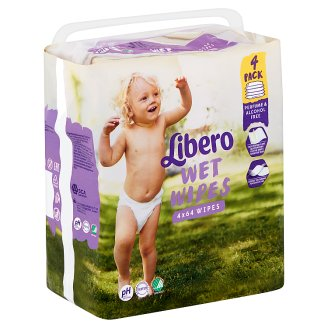 Libero Wet Wipes with Nordic Canola Oil 4 x 64 pcs
