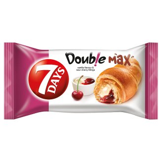 7DAYS Doub!e Max Croissant with Vanilla Flavour and Sour Cherry Filling 80 g