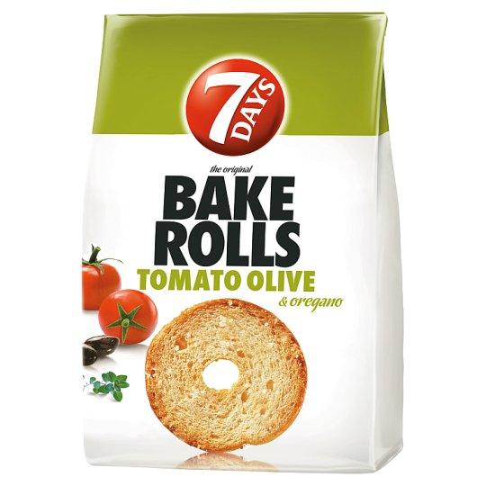 7DAYS Bake Rolls Bread Crisps with Tomato-Olive-Oregano Seasoning 80 g