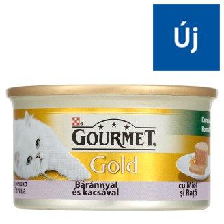 Gourmet Gold teljes értékű állateledel felnőtt macskáknak bárány-kacsa darabok pástétomban 85 g
