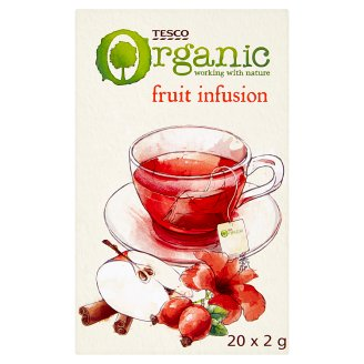 Tesco Fruit Infusion Organic Fruit Tea 20 Tea Bags 40 g