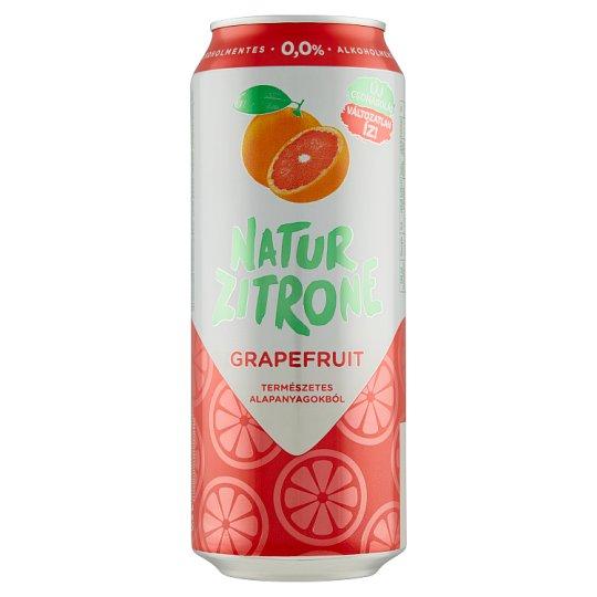 Natur Zitrone alkoholmentes, grapefruitos szénsavas ital steviával 0,5 l doboz