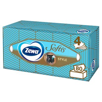 Zewa Softis Style Unscented Facials in Box 4 Ply 80 pcs