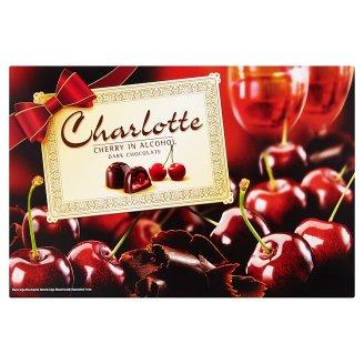 Charlotte alkoholos meggyel töltött étcsokoládé desszert 232 g
