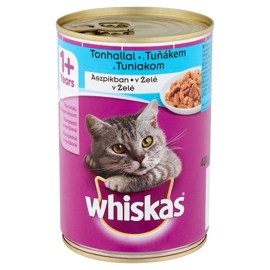 Whiskas 1+ Complete Pet Food for Adult Cats with Tuna in Jelly 400 g