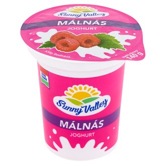 Sunny Valley élőflórás, zsírszegény málnás joghurt 140 g