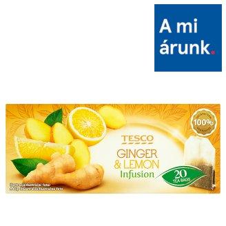 Tesco Ginger & Lemon Infusion Fruit Tea with Ginger, Lemon and Orange Peel 20 Tea Bags 40 g
