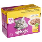 Whiskas 1+ Poultry Selection Complete Pet Food for Adult Cats in Aspic 12 x 100 g