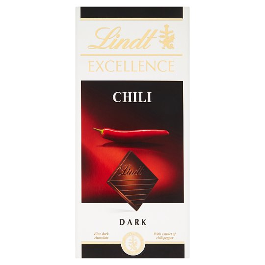 Lindt Excellence Chili svájci táblás étcsokoládé chilipaprika kivonattal 100 g