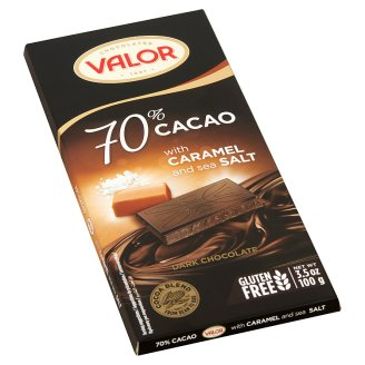 Valor Dark Chocolate with Caramel and Sea Salt 100 g