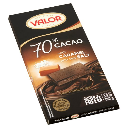Valor Dark Chocolate with Caramel and Sea Salt 100 g