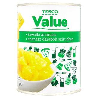 Tesco Value ananász darabok szirupban 567 g