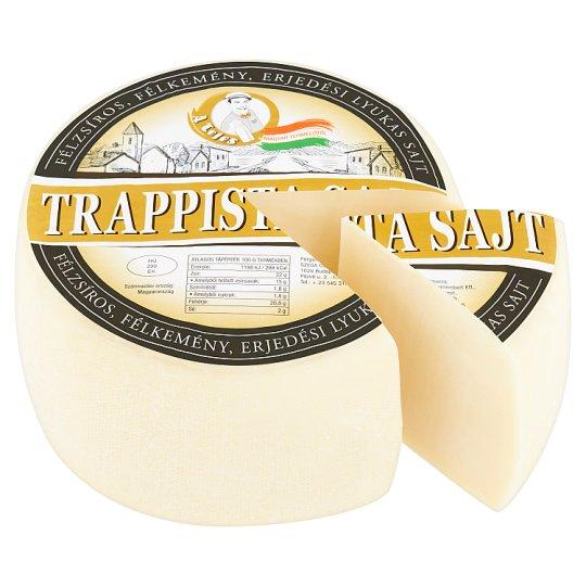 A Tejes félzsíros, félkemény, erjedési lyukas trappista sajt