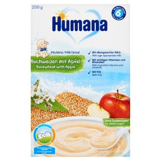 Humana almás-hajdinás tejpép 6 hónapos kortól 200 g