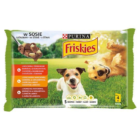 Friskies Vitafit Complete Pet Food for Adult Dogs 4 x 100 g