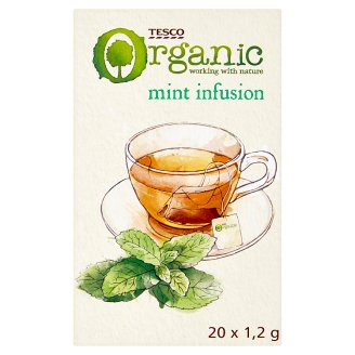 Tesco Mint Infusion Organic Tea with Spearmint and Peppermint 20 Tea Bag 24 g