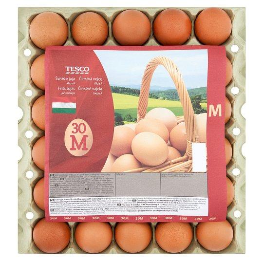 """Tesco """"A"""" osztályú friss tojás M 30 db"""