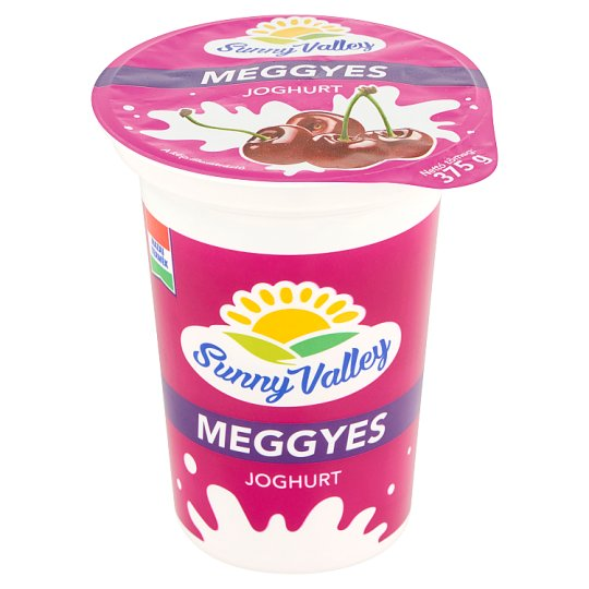 Sunny Valley Low-Fat Sour Cherry Yoghurt with Live Cultures 375 g