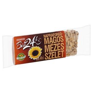 Biopont Bio 24h Organic Honey Bar with Sunflower Seeds 40 g