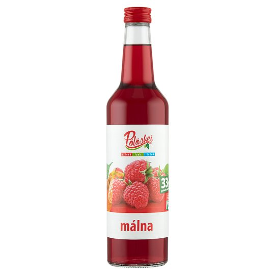 Pölöskei Raspberry Flavoured Fruit Syrup with Sugar and Sweeteners 0,7 l