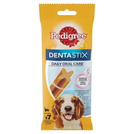 Pedigree DentaStix kiegészítő állateledel 10-25 kg-os, 4 hónapnál idősebb kutyáknak 7 db 180 g