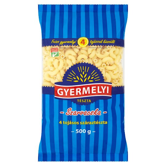 Gyermelyi Hornlets Dry Pasta with 4 Eggs 500 g
