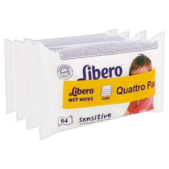 Libero Sensitive Wet Wipes for Sensitive Skin 4 x 64 pcs