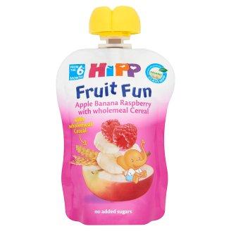 HiPP Gyümölcsvarázs BIO alma-banán-málna gyümölcspép gabonával 6 hónapos kortól 90 g