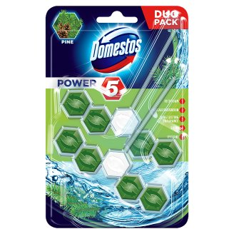 DOMESTOS Power5 WC frissítő blokk Pine 2 x 55 g