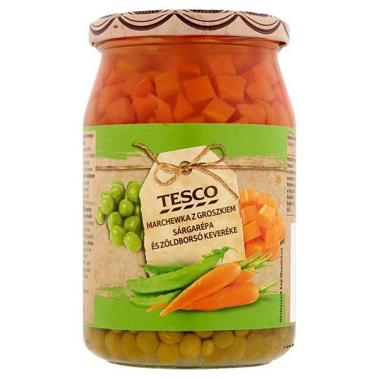 Tesco Carrots, and Green Peas Mixture 700 g