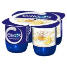 Danone Oikos Görög Lemon Cottage Cheese Cake Flavoured Cream Yoghurt with Live Cultures 4 x 125 g