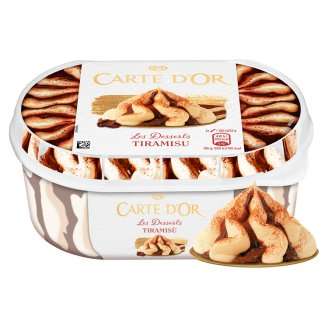 Carte D'Or Tiramisu Flavoured Ice Cream with Coffee Sauce and Coffee Flavoured Biscuits 900 ml