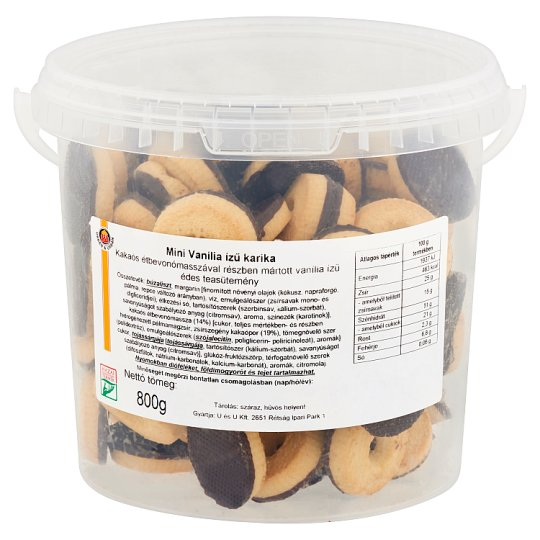 Urbán & Urbán Mini Vanillin Flavoured Biscuit Rings 800 g