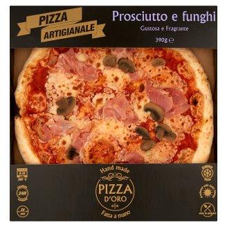 Pizza D'Oro Prosciutto e funghi gyorsfagyasztott kézműves pizza 390 g