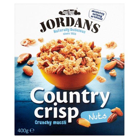 Jordans Country Crisp ropogós, teljes kiőrlésű gabonapelyhek diófélékkel 400 g