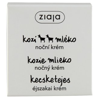 Ziaja Night Cream with Goat Milk for Dry and Wrinkled Skin 50 ml