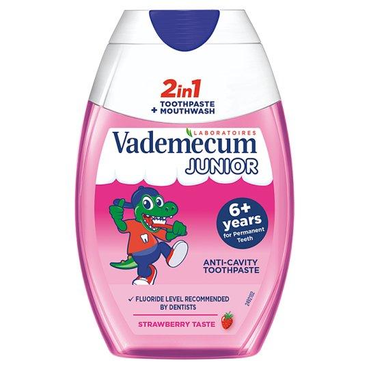 Vademecum Fogkrém 2in1 Junior Eper 75 ml