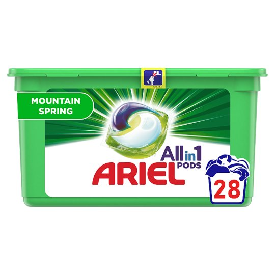 Ariel 3in1 Pods Mountain Spring Washing Capsules 28 Washes