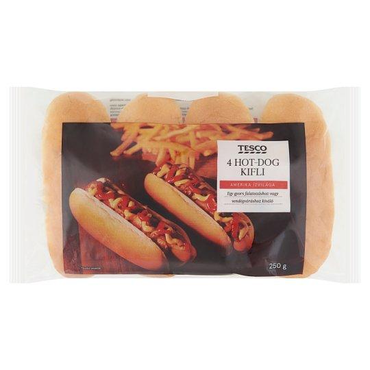 Tesco hot-dog kifli 4 db 250 g