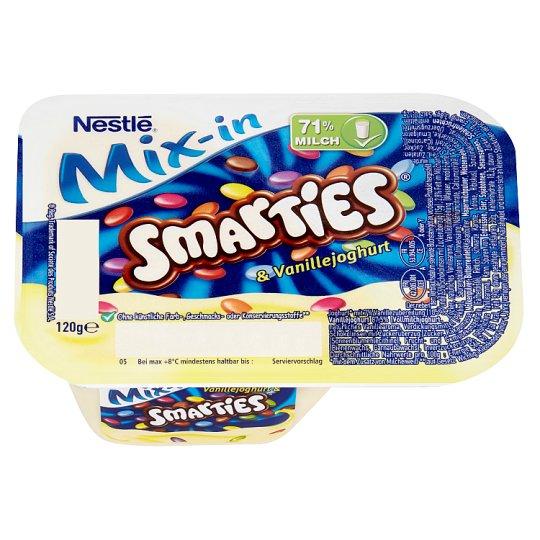Smarties Mix-in vanília ízű tejkészítmény tejcsokoládé drazséval 120 g