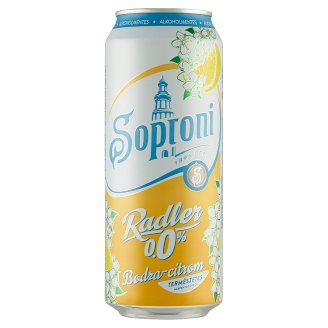 Soproni Radler Elder-Lemon Flavoured Non-Alcoholic Beer Drink 0,5 l