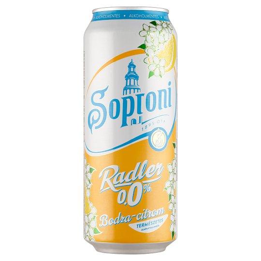 Soproni Radler Elder-Lemon Flavoured Non-Alcoholic Beer Drink 0,5 l Can