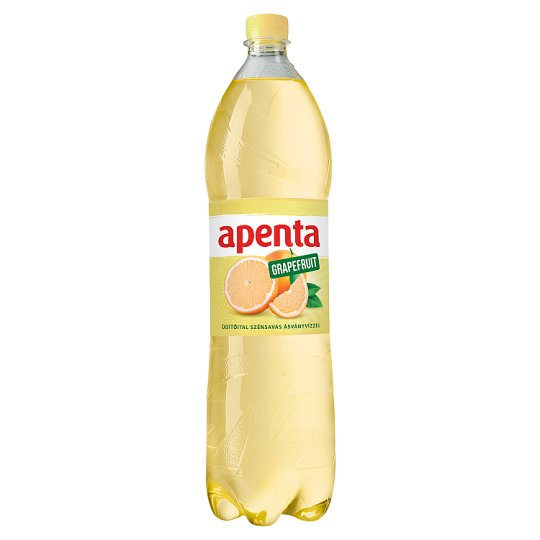 Apenta Grapefruit Flavoured Carbonated Soft Drink with Natural Mineral Water 1,5 l