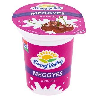 Sunny Valley élőflórás, zsírszegény meggyes joghurt 140 g