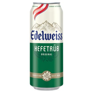 Edelweiss Unfiltered Lager Wheat Beer 5,3% 0,5 l Can