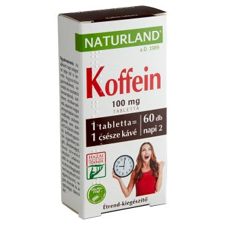Naturland Vitalstar Caffeine 100 mg Dietary Supplement Tablets 60 pcs 11,01 g
