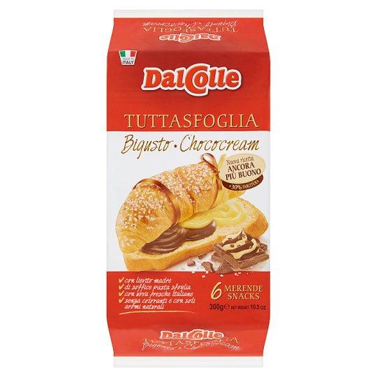 Dal Colle csokoládés krémmel és cukrászkrémmel töltött édesipari péktermék 6 db 300 g
